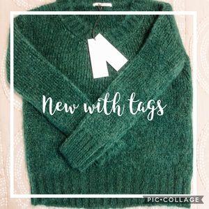 *NEW* Pomandere emerald green wool sweater